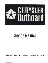 Hurrikain's Chrysler Outboard Manuals!