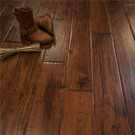 Discount 5 x 34 Hickory Character Prefinished Solid