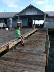 Your Doing good Dad, Ethan at Anna Maria Island City Pier