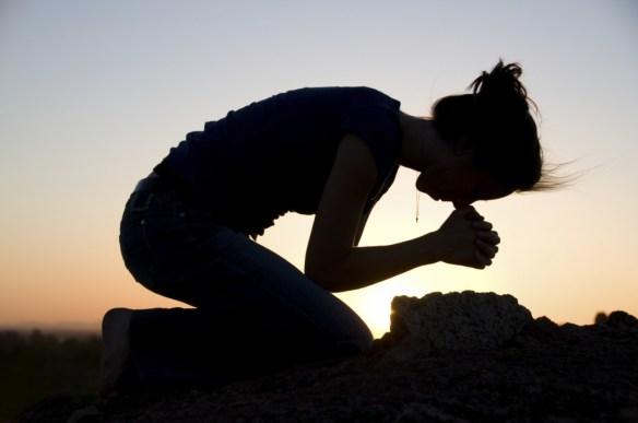 bön på knä