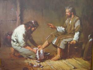 Jesus tvättar fötter