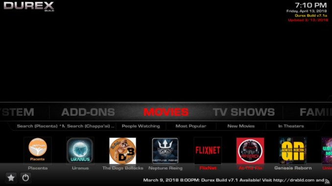 How to Install DUREX Build on Kodi 17.6 in 3 Simple Steps