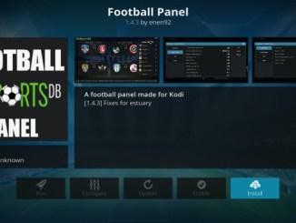 Football Panel Addon Guide - Kodi Reviews