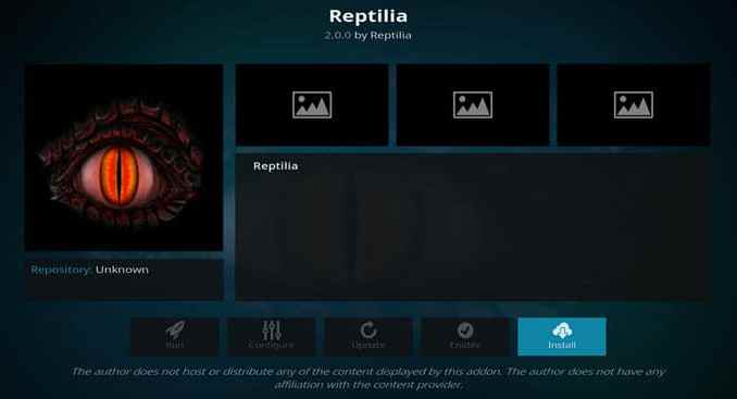 Reptilia Addon Guide - Kodi Reviews