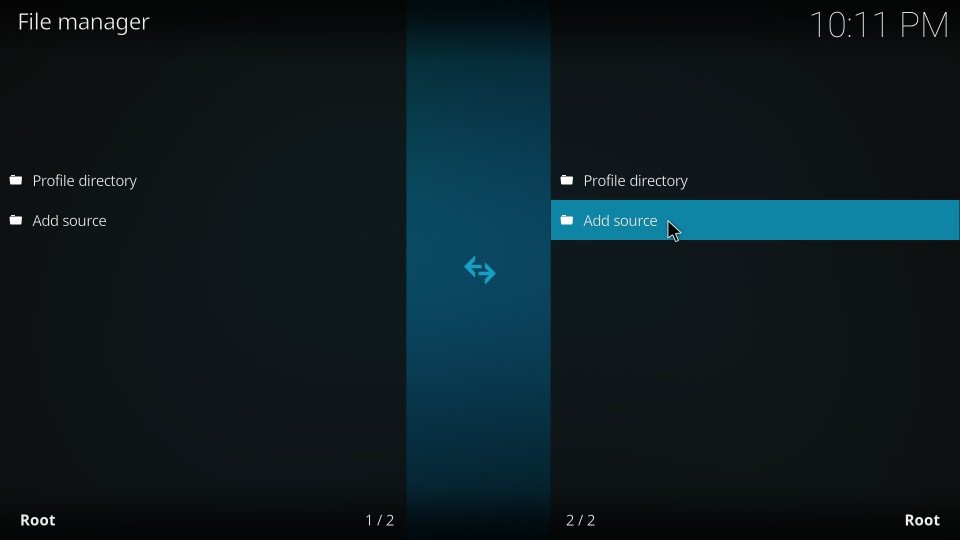 add repo source on kodi