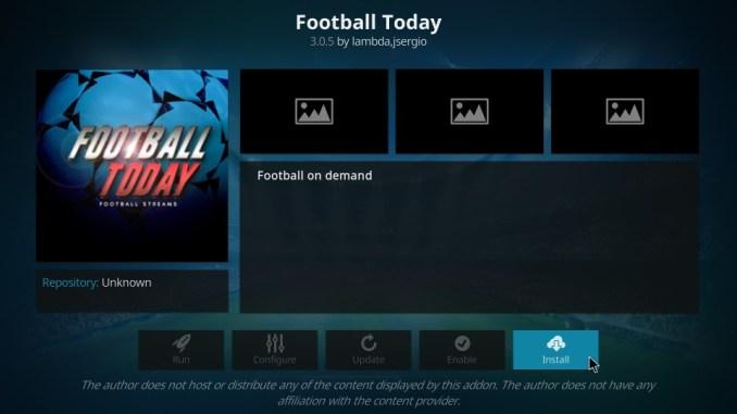 How to Install Football Today Addon on Kodi 17.6 Krypton