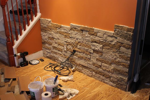 Diy Stone Accent Wall Huskerhomefinder Com