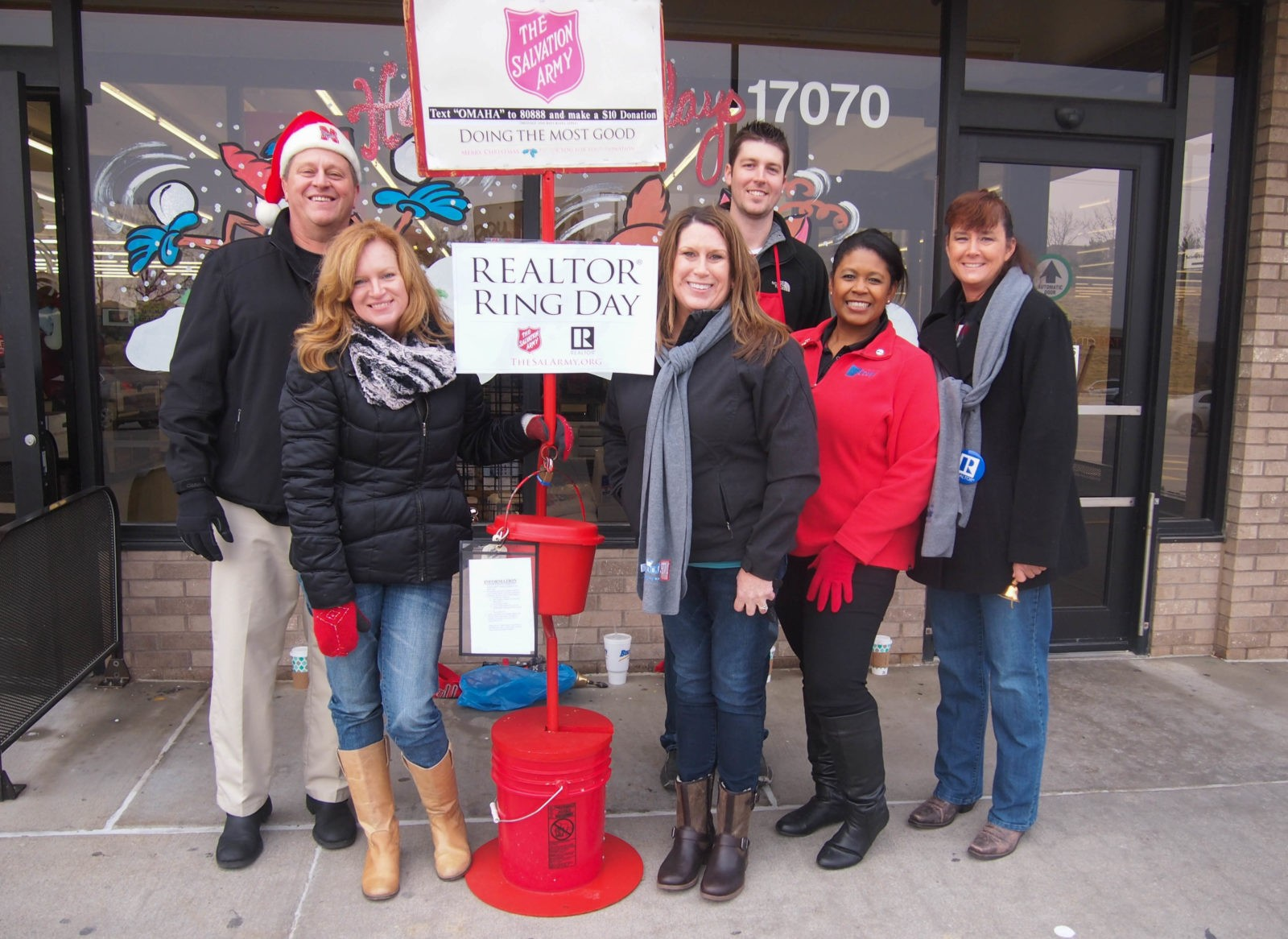 Salvation Army Bell Ringing Omaha, NP Dodge Real Estate