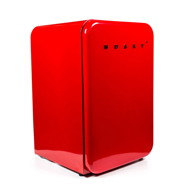 Red Retro Undercounter Fridge