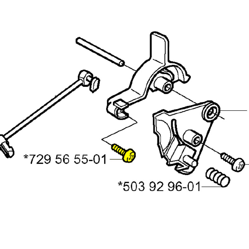 729565501 Husqvarna Screw Ccrapant