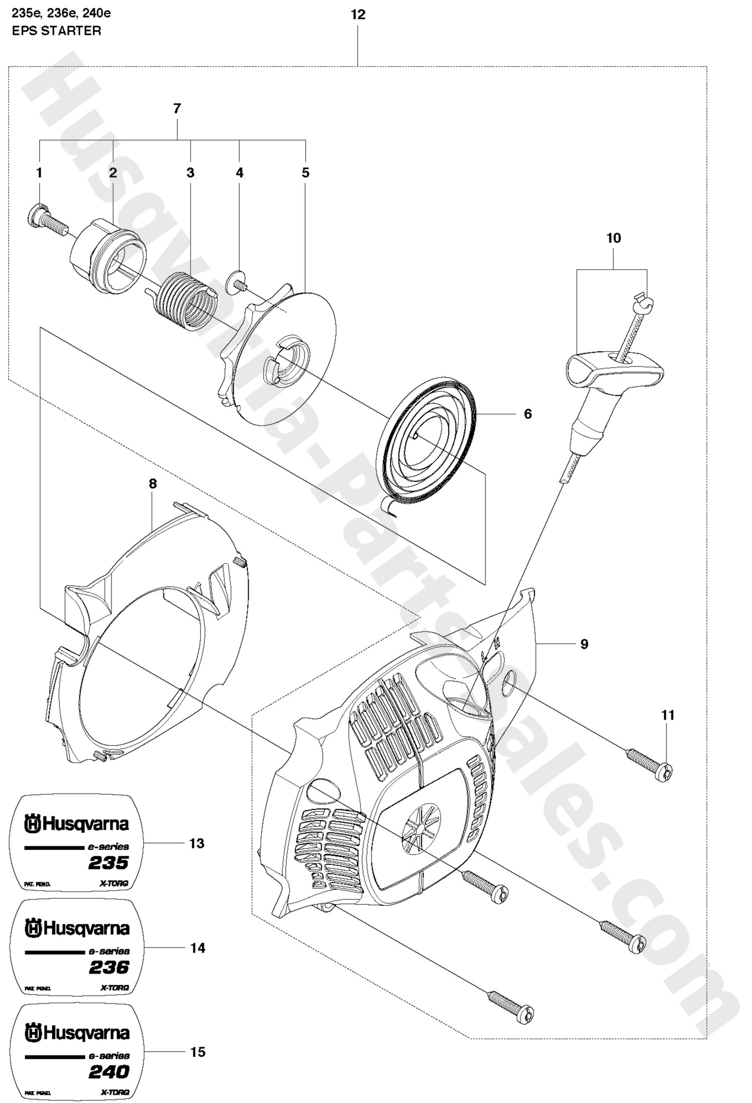 Husqvarna 235 Chainsaw Parts Diagram