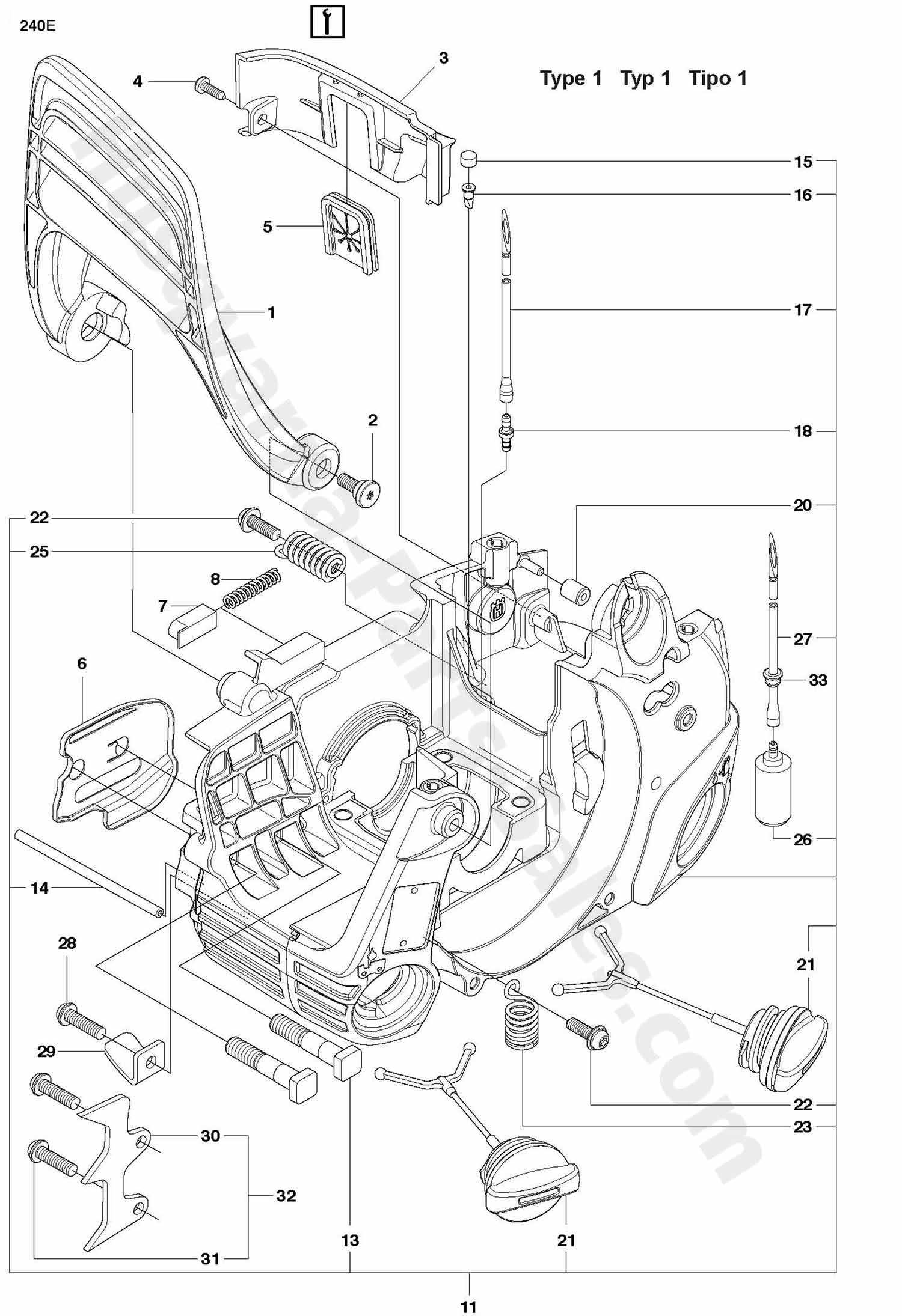 husqvarna 240 chainsaw parts diagram rca plug 240e chain saw fuel tank and handle