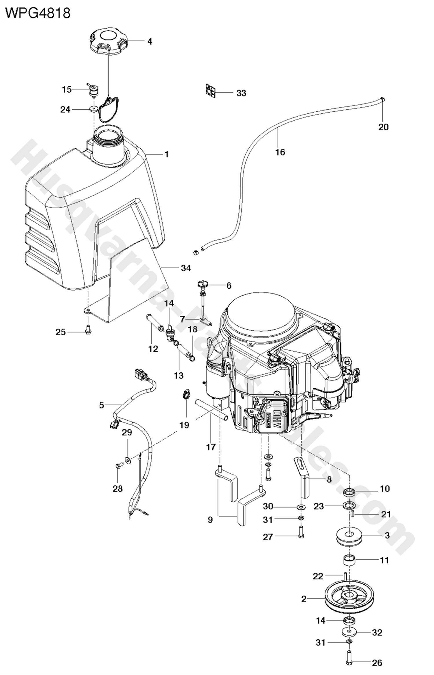 Wgp Husqvarna Commercial Mower Ignition System Parts