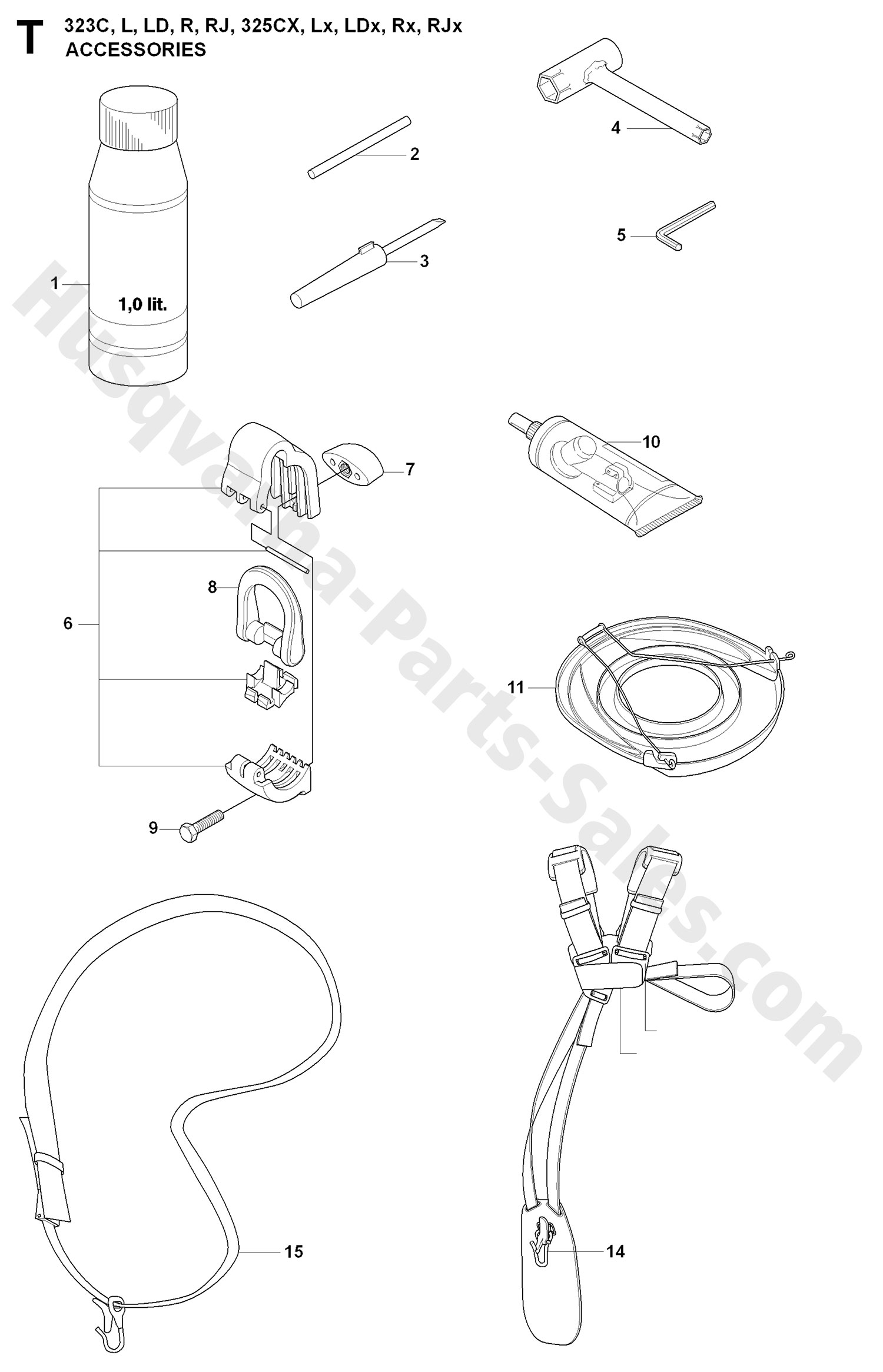 323R Husqvarna Brushcutter Accessories