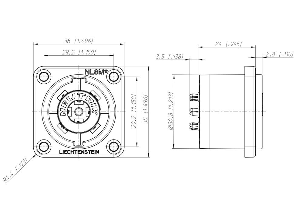 medium resolution of 4 pole speakon wiring diagram xlr wiring diagram wiring speakon to 1 4 wiring bridge to