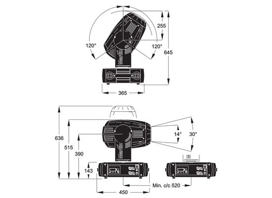 Martin MAC 700 Profile Movinghead, weiß bei Huss Licht & Ton