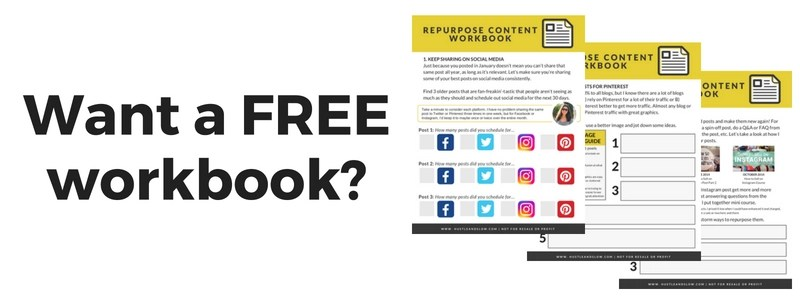 repurpose your existing blog post content workbook