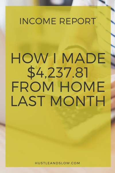 How I Made $4,237.81 Working From Home in September 2018 Income Report