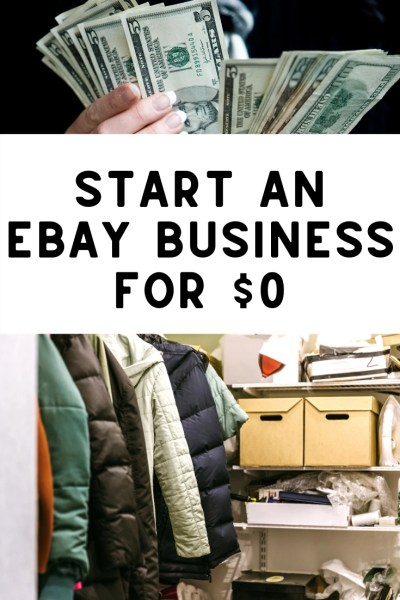 How to start an ebay business with no money