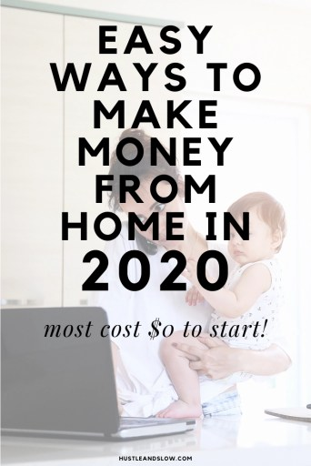 Easy ways to make money from home in 2020