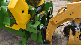 square bale feeder front-hitch