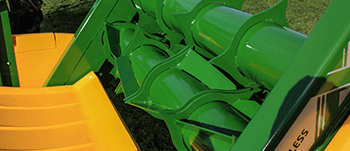 round bale feeder axial rotor