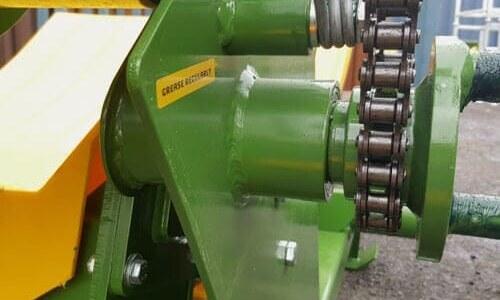 round bale feeder bushless-drive