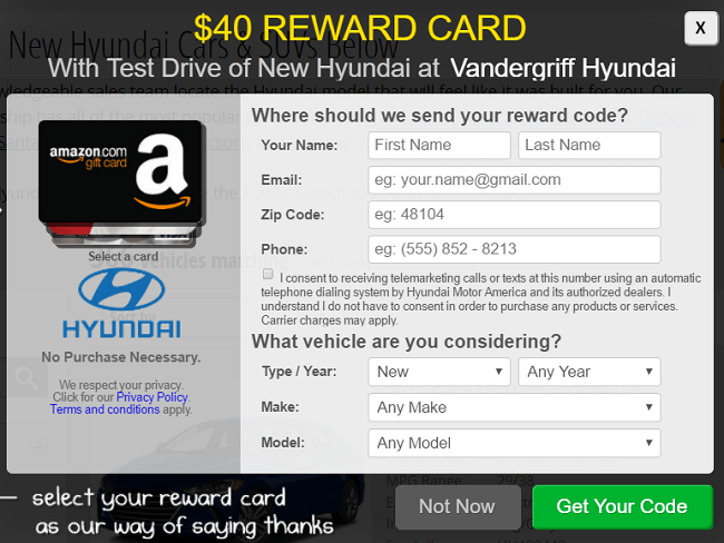 Image result for $40 prepaid card for driving a hyundai