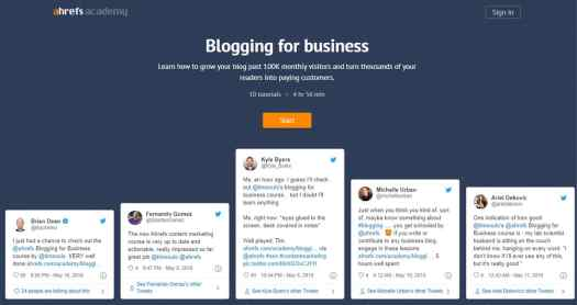 Ahrefs blogging for business