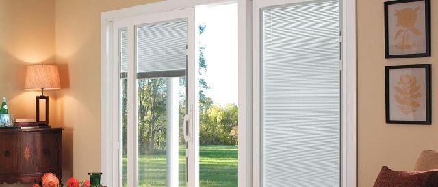 Andersen Gliding Patio Doors  Blinds between the glass