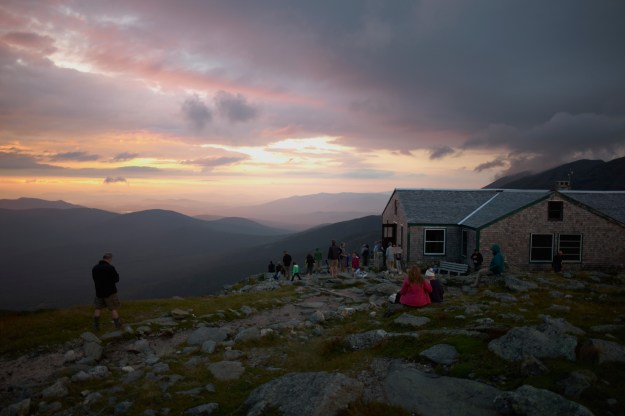 Sunrise lake of clouds, hut, Appalachian Mountain Club Huts Photos, hut2hut