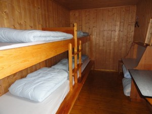 A typical 4 bed room, Den Norske Turistforening (DNT) at Rondvassbu Hut, hut2hut operational profile