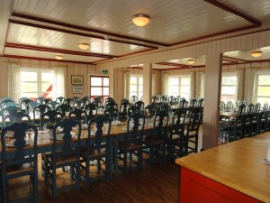 With the whole dining room set, Den Norske Turistforening (DNT) at Rondvassbu Hut, hut2hut operational profile