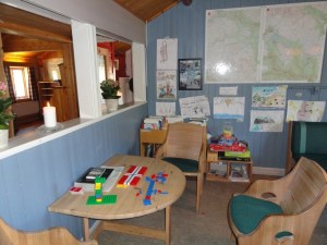 Kids' corner, Den Norske Turistforening (DNT) at Rondvassbu Hut, hut2hut operational profile