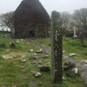 Kilmalkedar church, Dingle Peninsula, Co. Kerry, Ireland - one of the sites along The Saint's Road © Deborah Wagstaff 2016