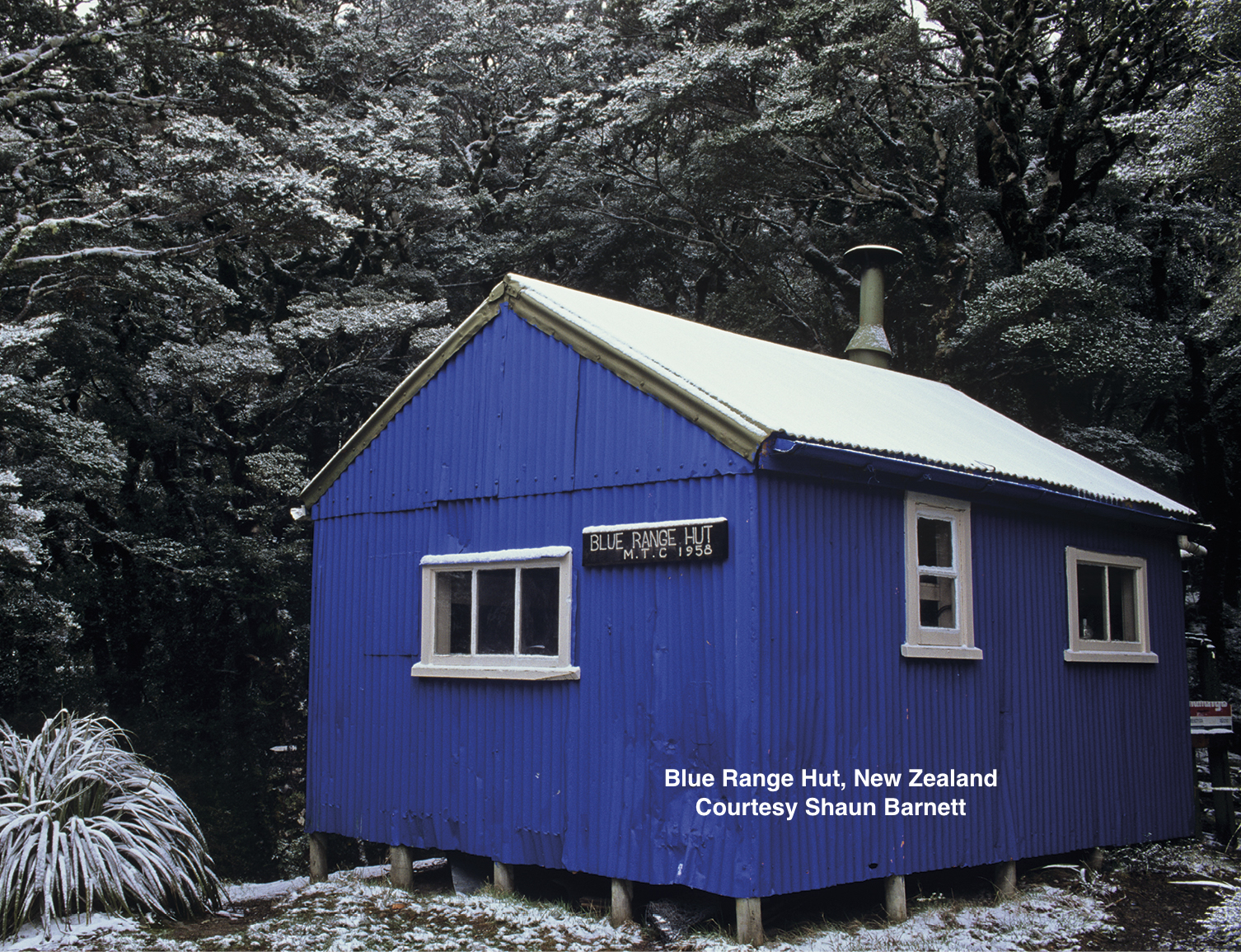 Blue Range Hut built by Masterton Tramping Club in 1958