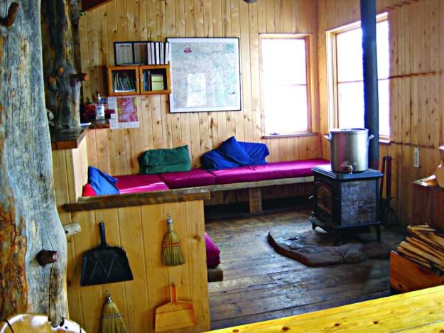 Benedict Hut interior, 10th Mountain Division Huts, hut2hut