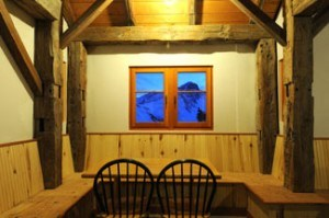 Window view, OPUS Huts, hut2hut