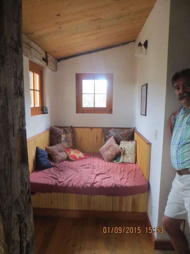 Cozy nook off living room, OPUS Huts, hut2hut