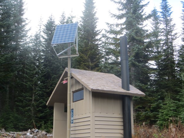 Yurt Outhouse, Mount Tahoma Trails Association, hut2hut