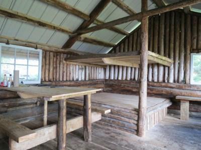 Glen Ellen Shelter Interior, Green Mountain Club Shelters, hut2hut
