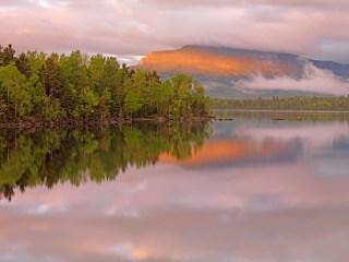 First light on Bigelow range, Maine Huts & Trails, hut2hut