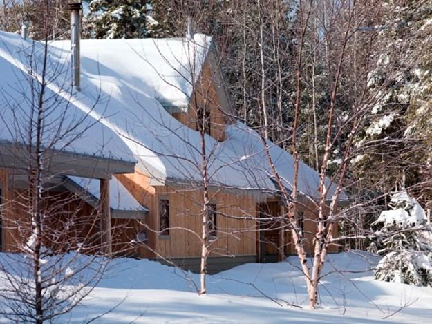 Grand Falls Hut in Snow, Maine Huts & Trails, hut2hut