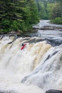 Kayaker in Falls, Maine Huts & Trails, hut2hut