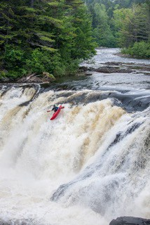 Kayaker in Falls, Maine Huts & Trails, hut2hut