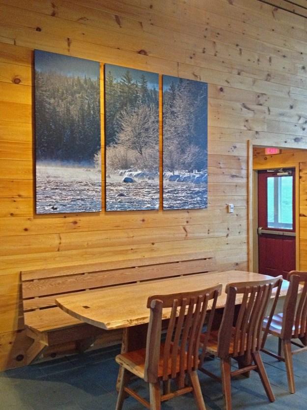Grand Falls Dining Room, Maine Huts & Trails, hut2hut