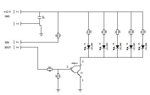 Pulssiohjattu LED-valo kytkentä