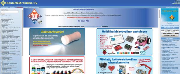 Kouluelektroniikka Oy komponenttien verkkokauppa