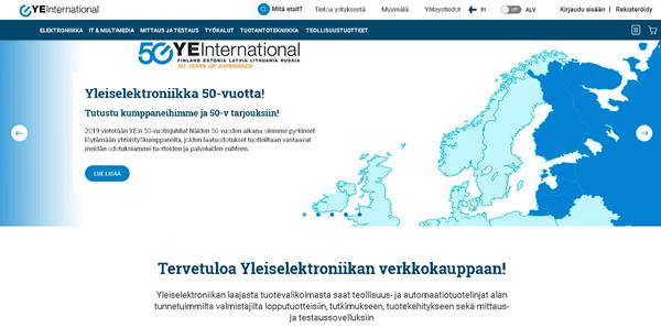 YE Internationalin  komponenttien verkkokauppa
