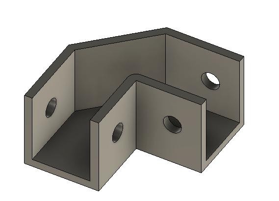 3D-malli kulmapalasta fusion 360